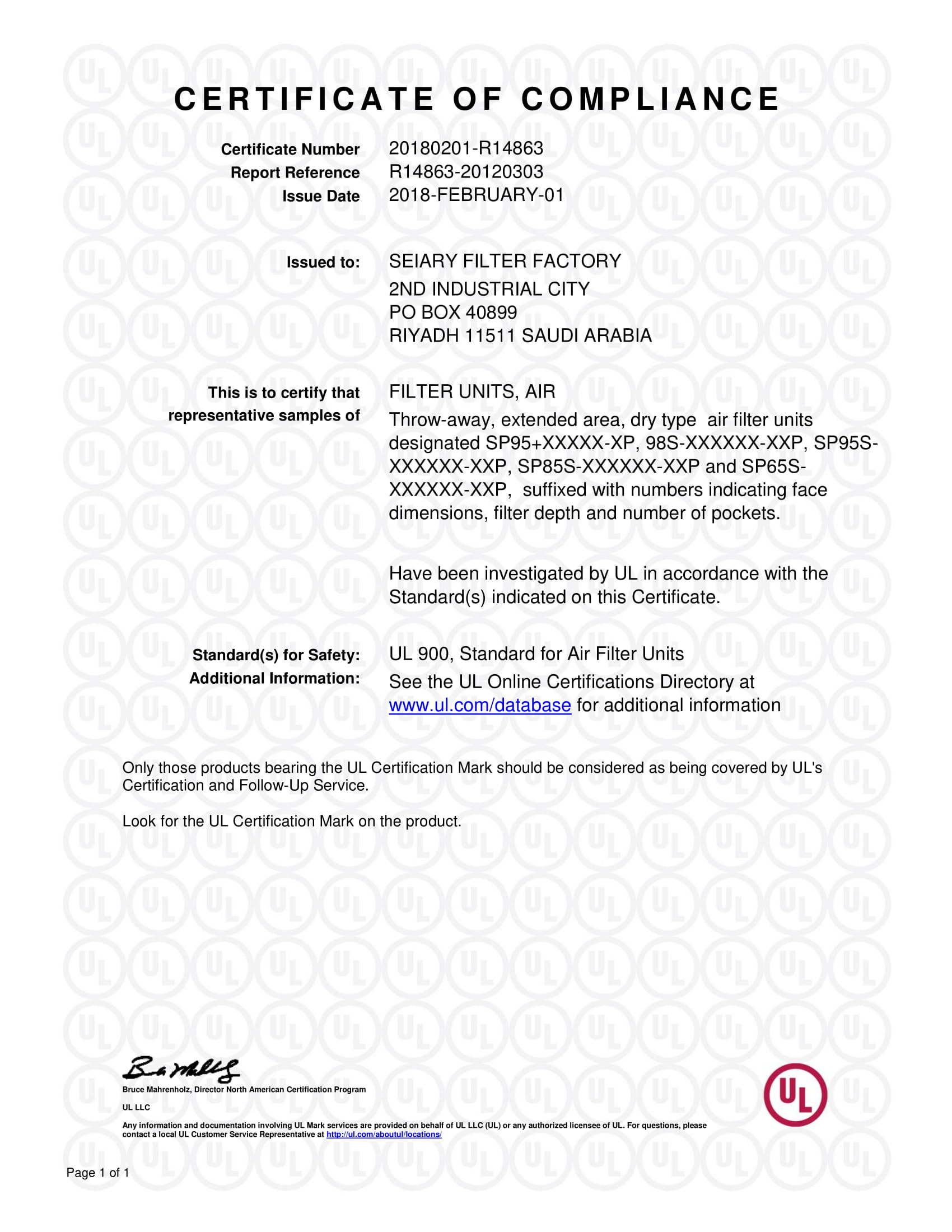 Certifications Seiary An Innovative Solution For Hvac